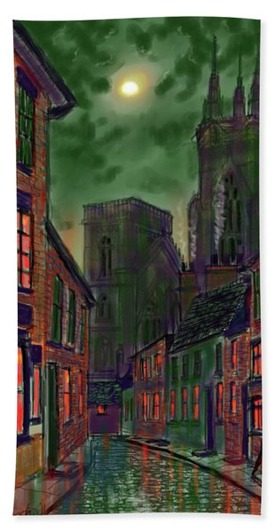 Rainy Night In Kirkgate Bath Towel