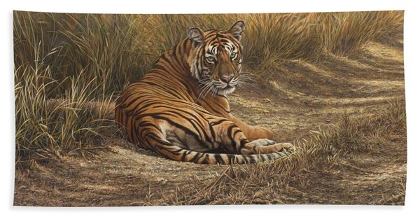 Ranthambore Roadblock Bath Towel
