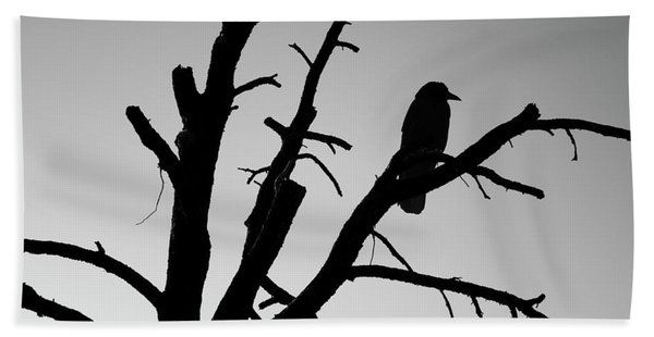 Raven Tree II Bw Hand Towel