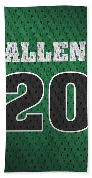 Ray Allen Boston Celtics Retro Vintage Jersey Closeup Graphic Design Hand Towel