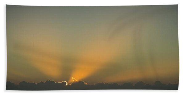 Rays Of Hope At Sunrise Delray Beach Florida Hand Towel
