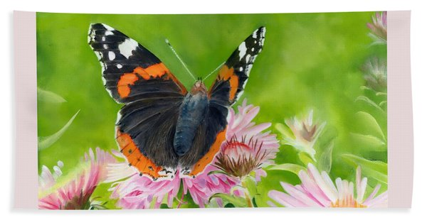 Red Admiral Bath Towel