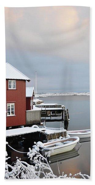 Boathouses Hand Towel