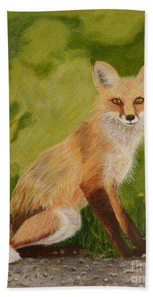 Red Fox 1 Hand Towel
