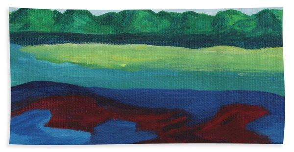 Red Lake Bath Towel