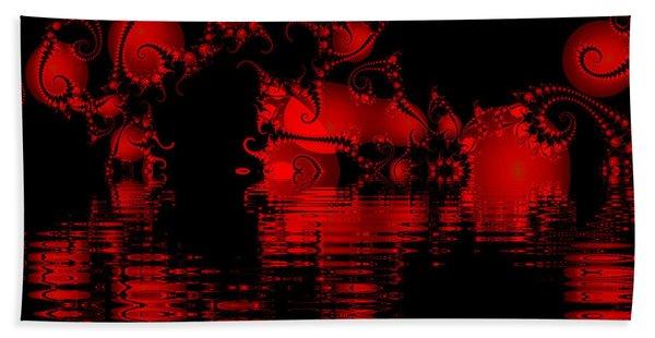 Red Lake Cave Fractal Bath Towel