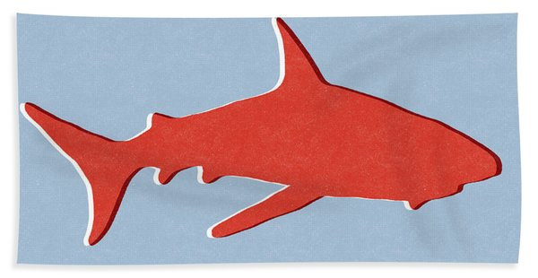 Red Shark Bath Towel