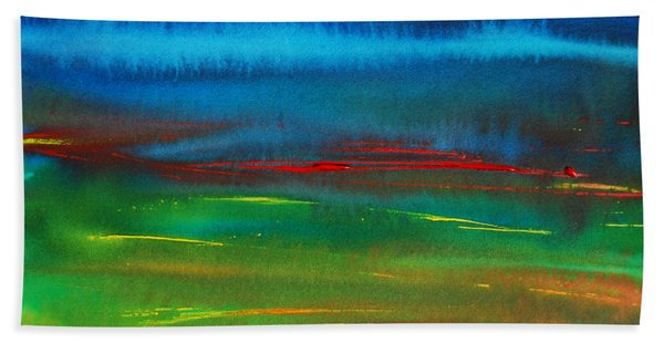Red Tide Abstract Hand Towel