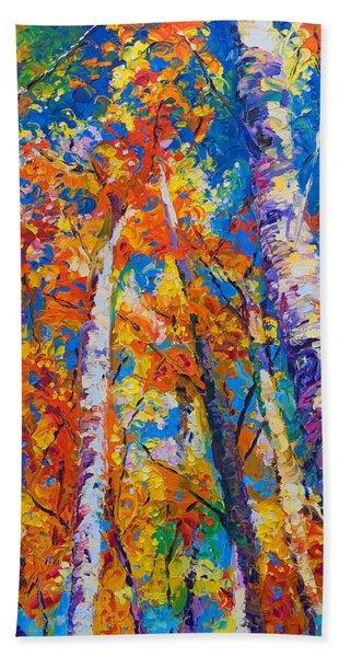 Redemption - Fall Birch And Aspen Bath Towel