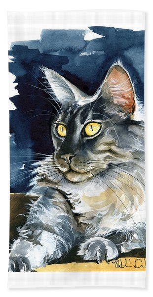Regina - Maine Coon Painting Bath Towel