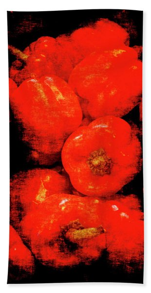 Renaissance Red Peppers Hand Towel