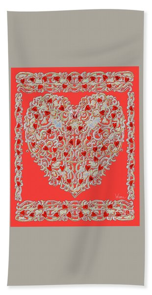 Renaissance Style Heart Hand Towel