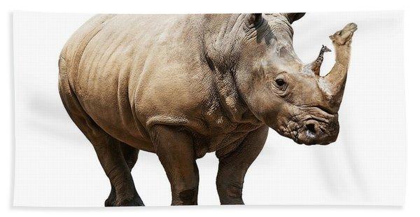 Rhino With Camel And Giraffe Horns Hand Towel