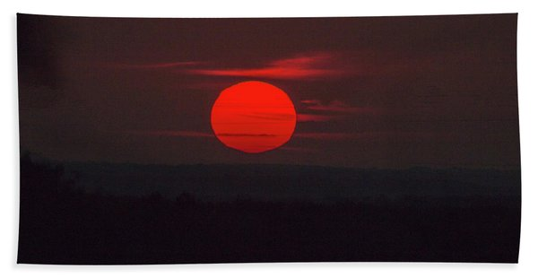 Rising Sun In Texas Hand Towel