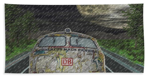 Road Trip In The Rain Hand Towel