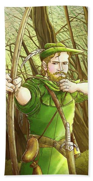 Robin  Hood In Sherwood Forest Bath Towel