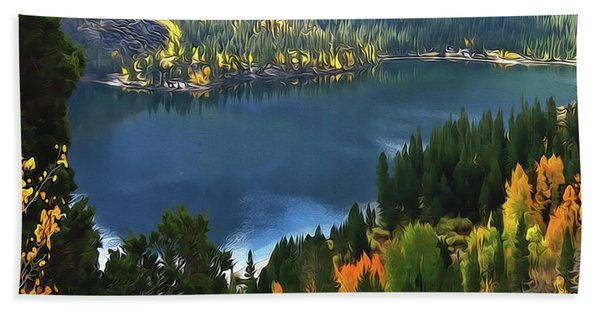 Rock Creek Lake In Fall Bath Towel