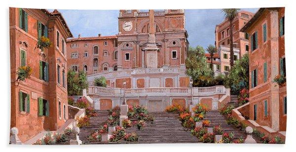 Rome-piazza Di Spagna Hand Towel