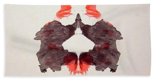 Rorschach Test Card No. 2 Bath Towel