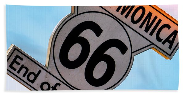 Route 66 End Of The Trail Hand Towel