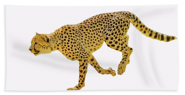 Bath Towel featuring the digital art Running Cheetah 2 by Larry Linton