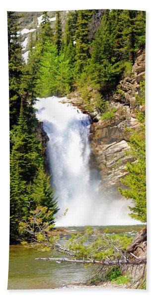 Running Eagle Falls Bath Towel