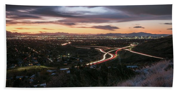 Hand Towel featuring the photograph Rush Hour In Salt Lake City by James Udall