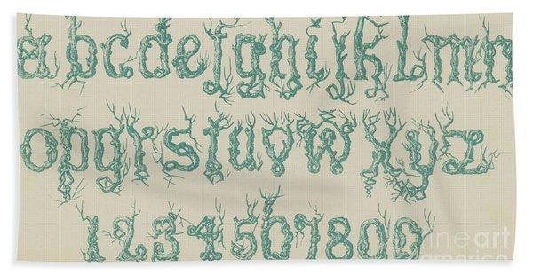 Rustic Font Hand Towel