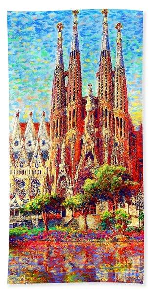 Sagrada Familia Hand Towel