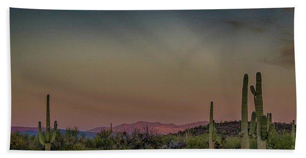 Saguaros Salute Rays Rising Hand Towel