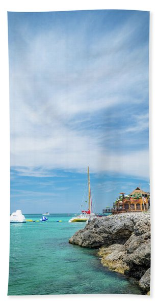 Coastline Sailing In Montego Bay Hand Towel