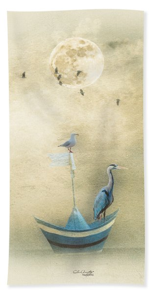 Sailing By The Moon Hand Towel