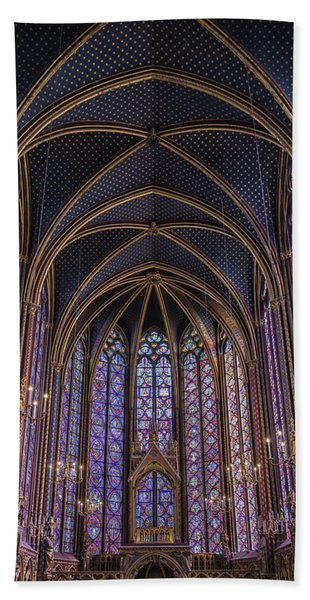 Sainte Chapelle Stained Glass Paris Bath Towel
