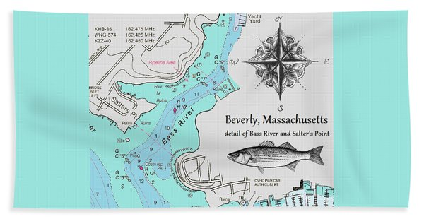 Salter's Point Map Hand Towel