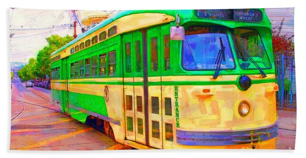 San Francisco F-line Trolley Bath Towel