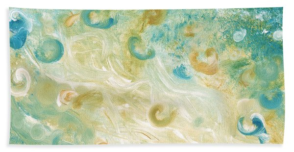Sand And Surf Painting Hand Towel