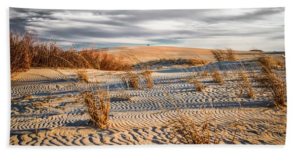 Sand Dune Wind Carvings Bath Towel