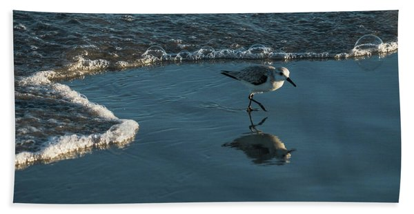 Sanderling Reflection Delray Beach Florida Bath Towel