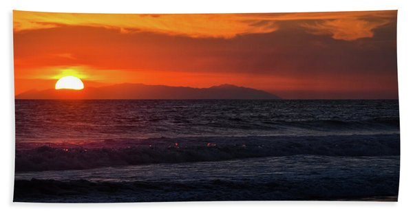 Santa Catalina Island Sunset Hand Towel