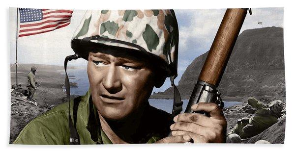 Sargent Stryker U S M C  Iwo Jima Bath Towel