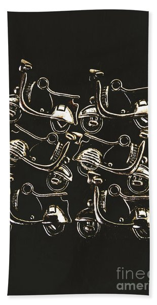 Scooters Of Pop Culture Hand Towel