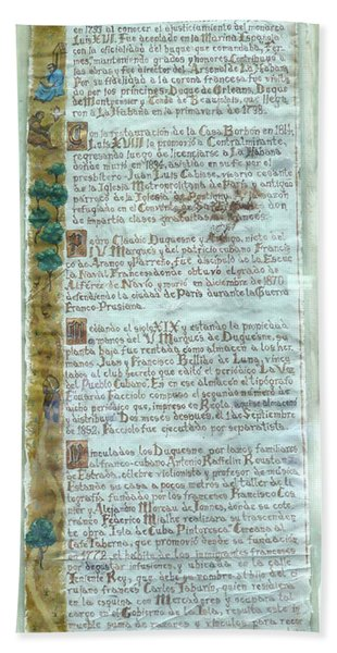Script Of A Priest Hand Towel