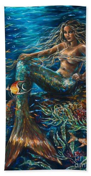 Sea Jewels Mermaid Hand Towel