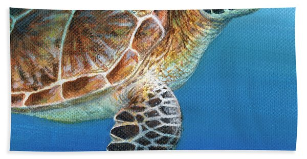 Sea Turtle 2 Of 3 Bath Towel