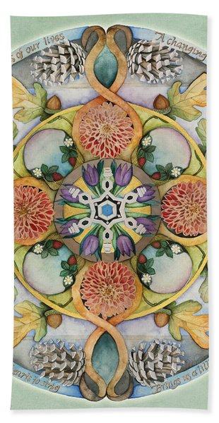 Seasons Mandala Hand Towel