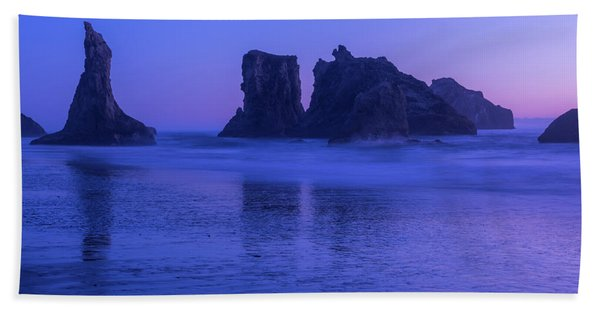Seastack Sunset In Bandon Hand Towel