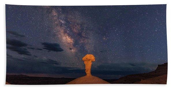Secret Spire And The Milky Way Horizontal Bath Towel