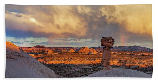 Secret Spire Sunset 1 Hand Towel