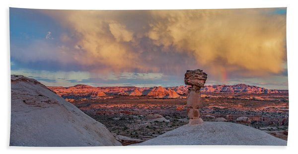 Secret Spire Sunset 2 Hand Towel