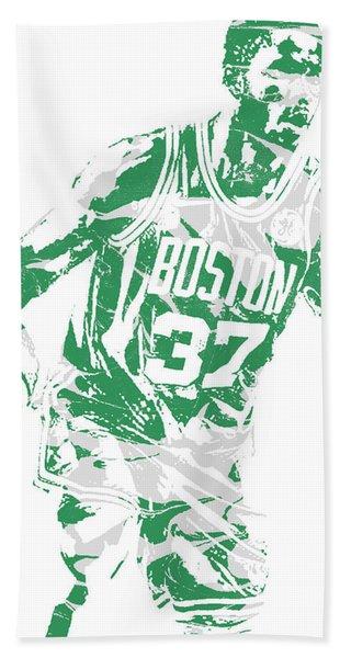 Semi Ojeleye Boston Celtics Pixel Art 2 Hand Towel